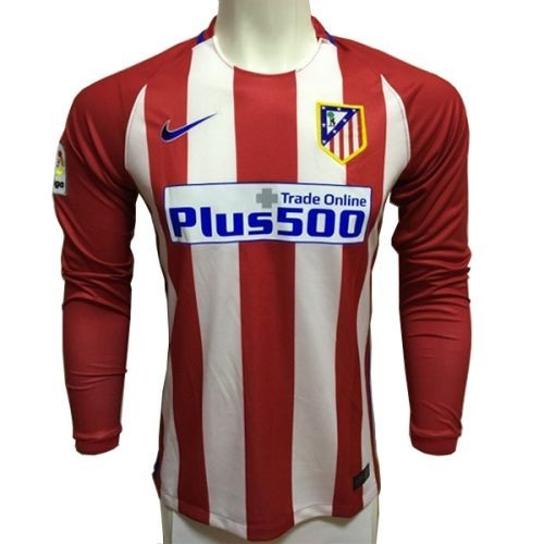 Футбольная футболка для детей Atletico Madrid Домашняя 2016 2017 лонгслив (рост 110 см)