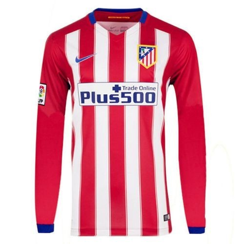 Футбольная футболка для детей Atletico Madrid Домашняя 2015 2016 лонгслив (рост 100 см)